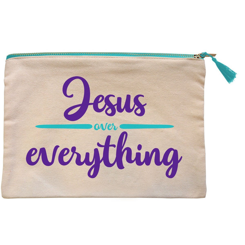 grace & truth™ Jesus Over Everything Zipper Bag