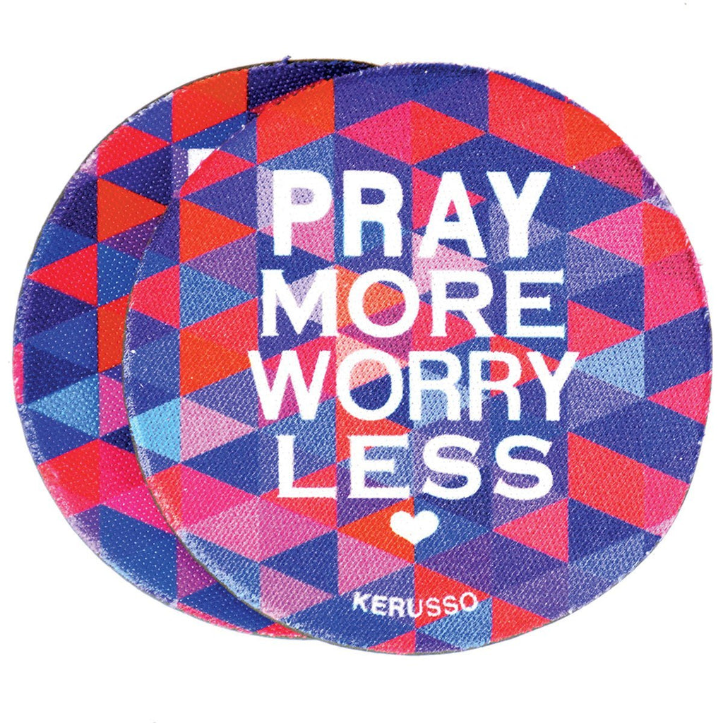 Kerusso® Auto Coaster - Pray More Worry Less