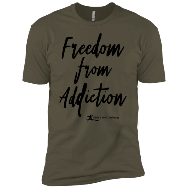 Teen Challenge USA - Adult T-Shirt - Military Green - Freedom From Addiction