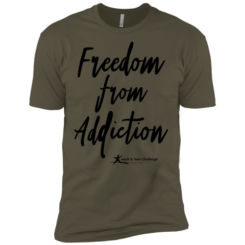 Teen Challenge MidSouth  - Adult T-Shirt - Military Green - Freedom From Addiction