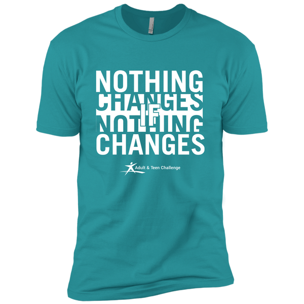 Teen Challenge USA - Adult T-Shirt - Teal - Nothing Changes