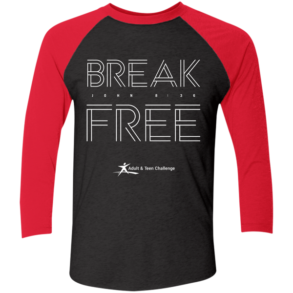Teen Challenge USA - Adult Raglan T-Shirt - Break Free