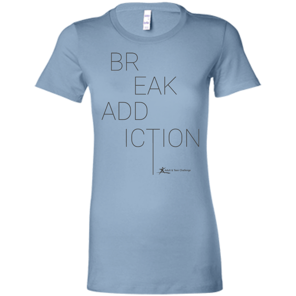 Teen Challenge USA - Women's Adult T-Shirt - Baby Blue - Break Addiction