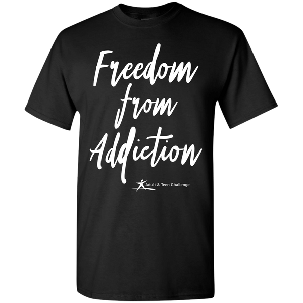 Teen Challenge USA - Adult T-Shirt - Black - Freedom From Addiction
