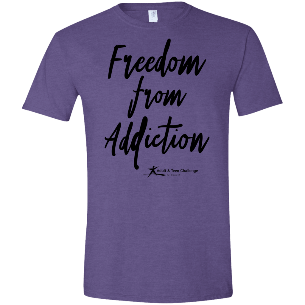 Teen Challenge MidSouth  - Adult T-Shirt - Heather Purple - Freedom From Addiction