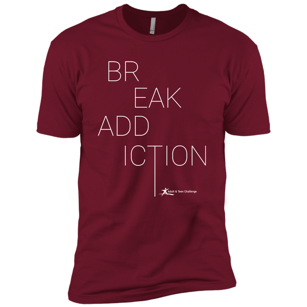 Teen Challenge USA - Adult T-Shirt - Maroon - Break Addiction