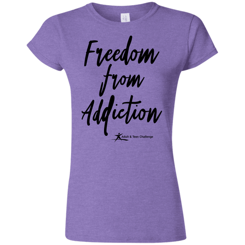 Teen Challenge USA - Women's Adult T-Shirt - Heather Purple - Freedom From Addiction
