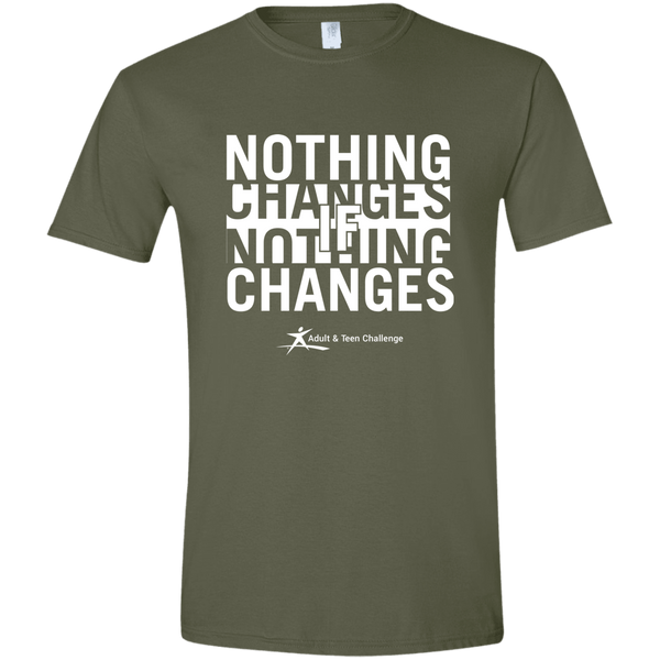 Teen Challenge USA - Adult T-Shirt - Military Green - Nothing Changes