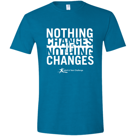 Teen Challenge USA - Adult T-Shirt - Antique Sapphire - Nothing Changes