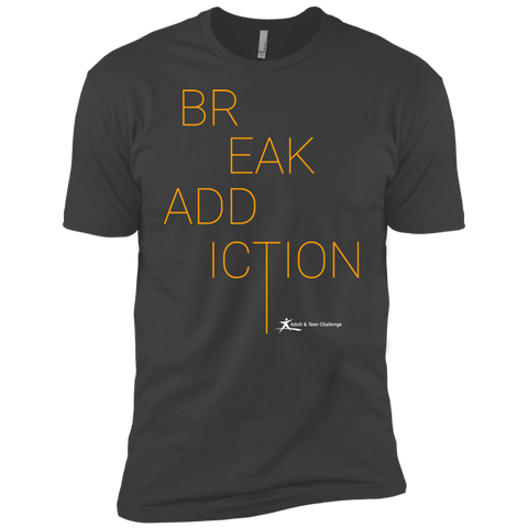 Teen Challenge USA - Adult T-Shirt - Dark Grey - Break Addiction