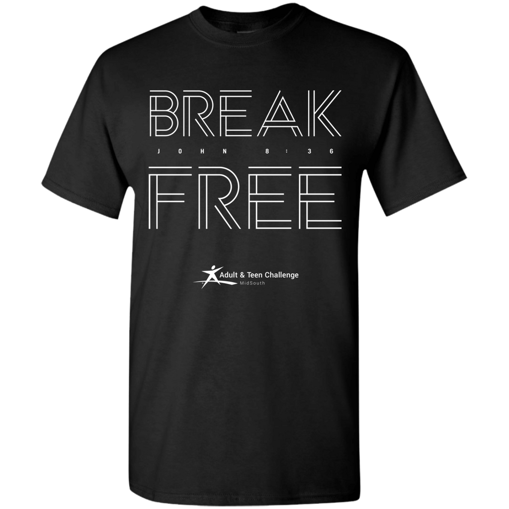 Teen Challenge MidSouth  - Adult T-Shirt - Black - Break Free