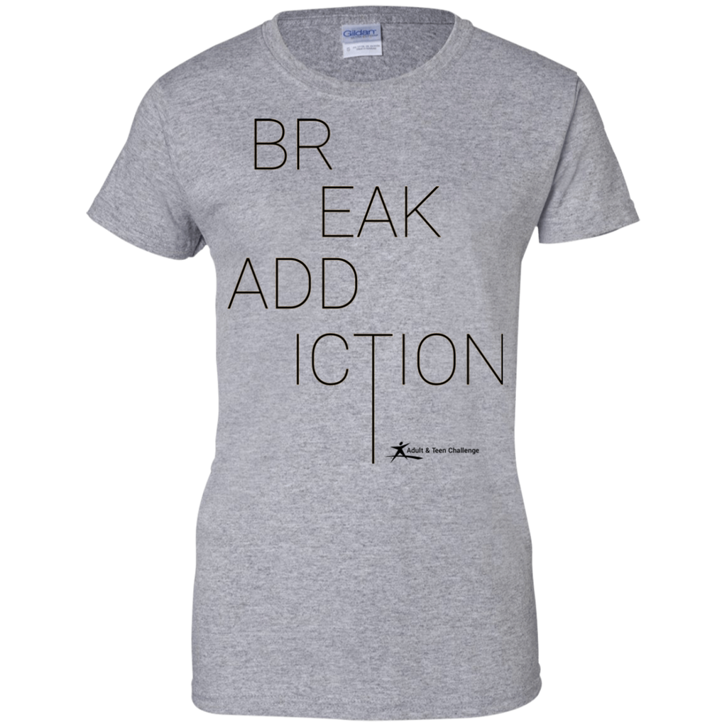 Teen Challenge USA - Women's Adult T-Shirt - Grey - Break Addiction