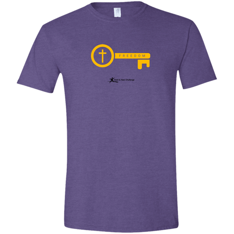 Teen Challenge USA - Adult T-Shirt - Heather Purple - Freedom Key