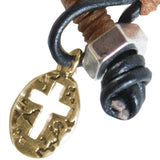 Faith Gear® Guy's Bracelet - Oval Cross