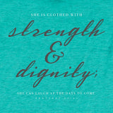 grace & truth® - Women's Adult T-Shirt - Strength (Teal)
