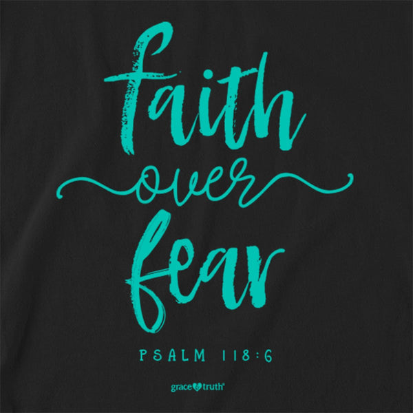 grace & truth® Adult Raglan T-Shirt - Faith Over Fear Script
