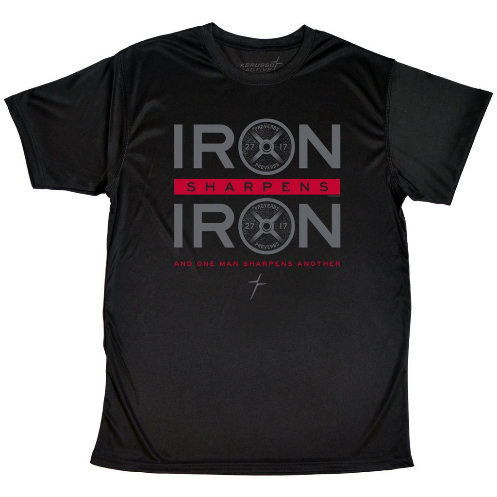 Kerusso ACTIVE® Mens T-Shirt Iron Sharpens Iron