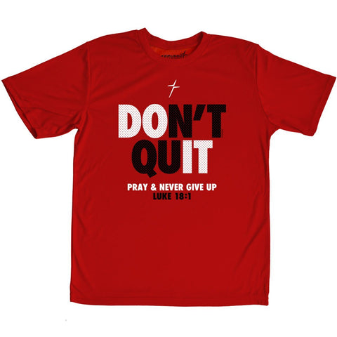 Kerusso ACTIVE® Youth T-Shirt Don't Quit Never Give Up Red