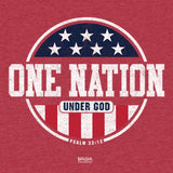 Kerusso® Kids T-Shirt Patriotic One Nation Under God Red