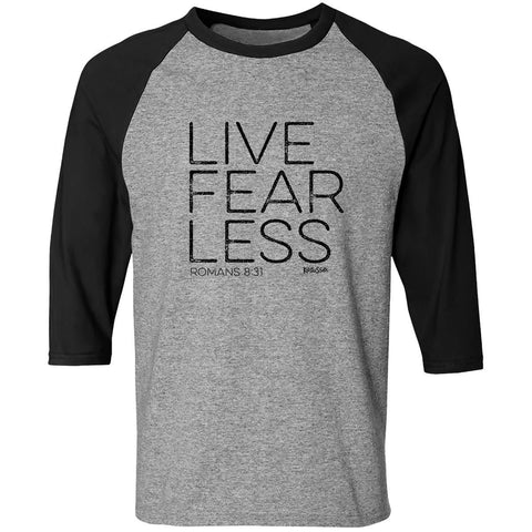 Live Fearless Adult Raglan T-shirt ™