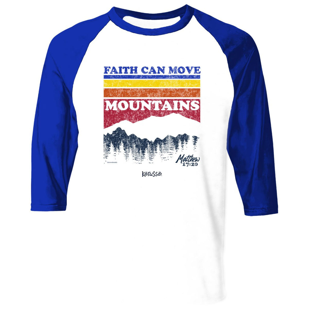 Kerusso® Adult Raglan T-Shirt - Mountain Stripes