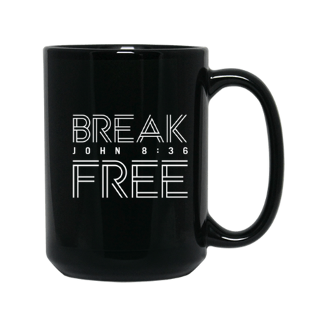TC - Break Free - 15 oz. Black Mug
