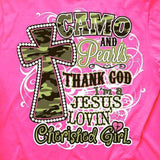 Camo and Pearls T-Shirt
