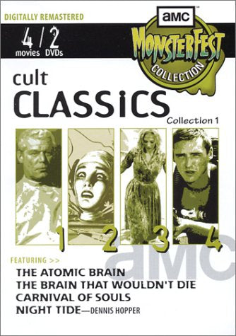 Amc Monsterfest Collection Cult Classics Vol 1 The Atomic Brain The Brain That Wouldnt Die Carnival Of Souls Night Tide