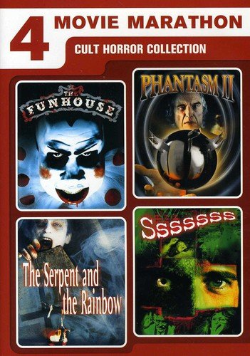 4 Movie Marathon Cult Horror Collection The Funhouse Phantasm Ii The Serpent And The Rainbow Sssssss