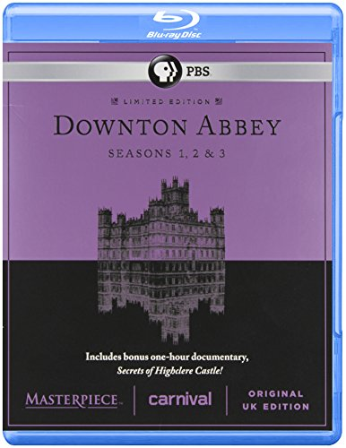 Masterpiece Classic Downton Abbey Season 1 2 And 3 Blue Ray