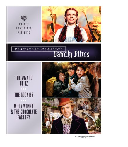 Essential Classics - Family Films The Wizard Of Oz / The Goonies / Willy Wonka And The Chocolate Factory