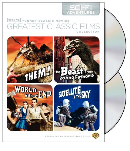 Tcm Greatest Classic Films Collection Sci-Fi Adventures Them! / The Beast From 20,000 Fathoms / World Without End / Satellite In The Sky