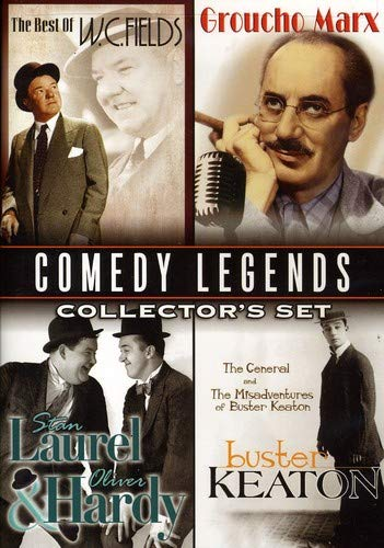 Comedy Legends Collector's Set Buster Keaton The Misadventures Of Buster Keaton & The General; W.C. Fields Golf Specialist, Dentist & Fatal Glass Of Beer; Laurel & Hardy Lucky Dog, Kid Speed