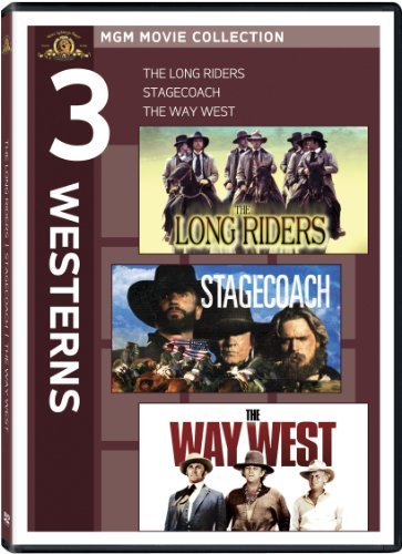 3 Westerns The Long Riders Stagecoach The Way West