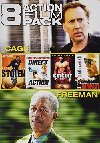 8 Action Film Pack Stolen Direct Action The Circuit Rampart Wake Of Death The Contract Avenging Angelo Lost City Raiders