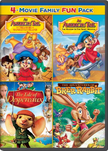 An American Tail The Treasure Of Manhattan Island An American Tail The Mystery Of The Night Monster The Tale Of Despereaux The Adventures Of Brer Rabbit Family Fun Pack