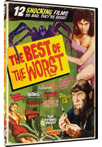 Best Of The Worst 12 Horror Movie Collection Eegah The Amazing Transparent Man Dementia 13 Mesa Of Lost Women 8 More