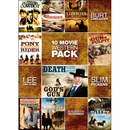 10Movie Western Pack Vol 2 Nothing Too Good For A Cowboy Kid Vengeance Cowboys Dont Cry Pony Express Rider Gun And The Pulpit Death Rides A Horse Gods Gun Neds Blessing Against Sky