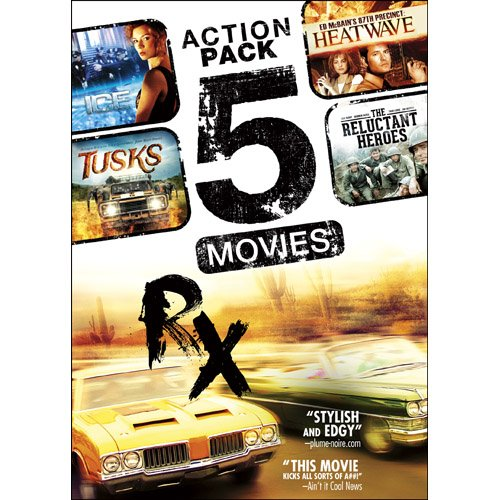 5Movie Action Pack V7 Tusks The Reluctant Heroes Rx Ice Ed Mcbains 87Th Precinct Heatwave