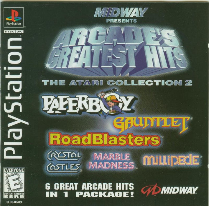 Arcades Greatest Hits The Atari Collection 2 - PlayStation 1