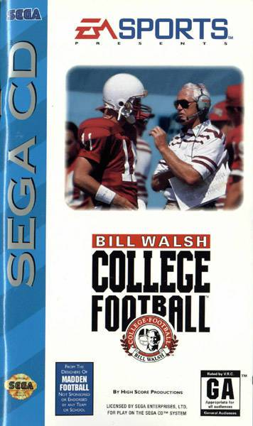 Bill Walsh College Football - Sega CD