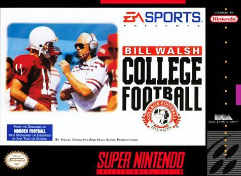 Bill Walsh College Football - Super Nintendo Entertainment System