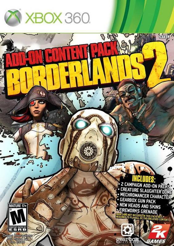 Borderlands 2 Add-On Content Pack - Xbox 360