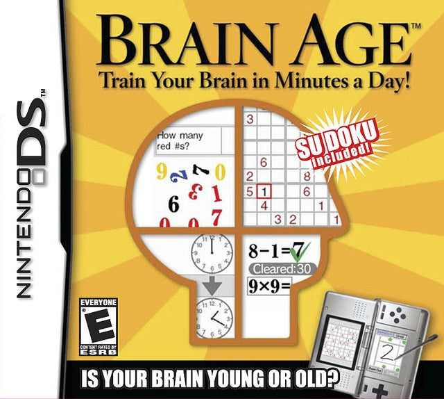 Brain Age Train Your Brain in Minutes a Day! - Nintendo DS