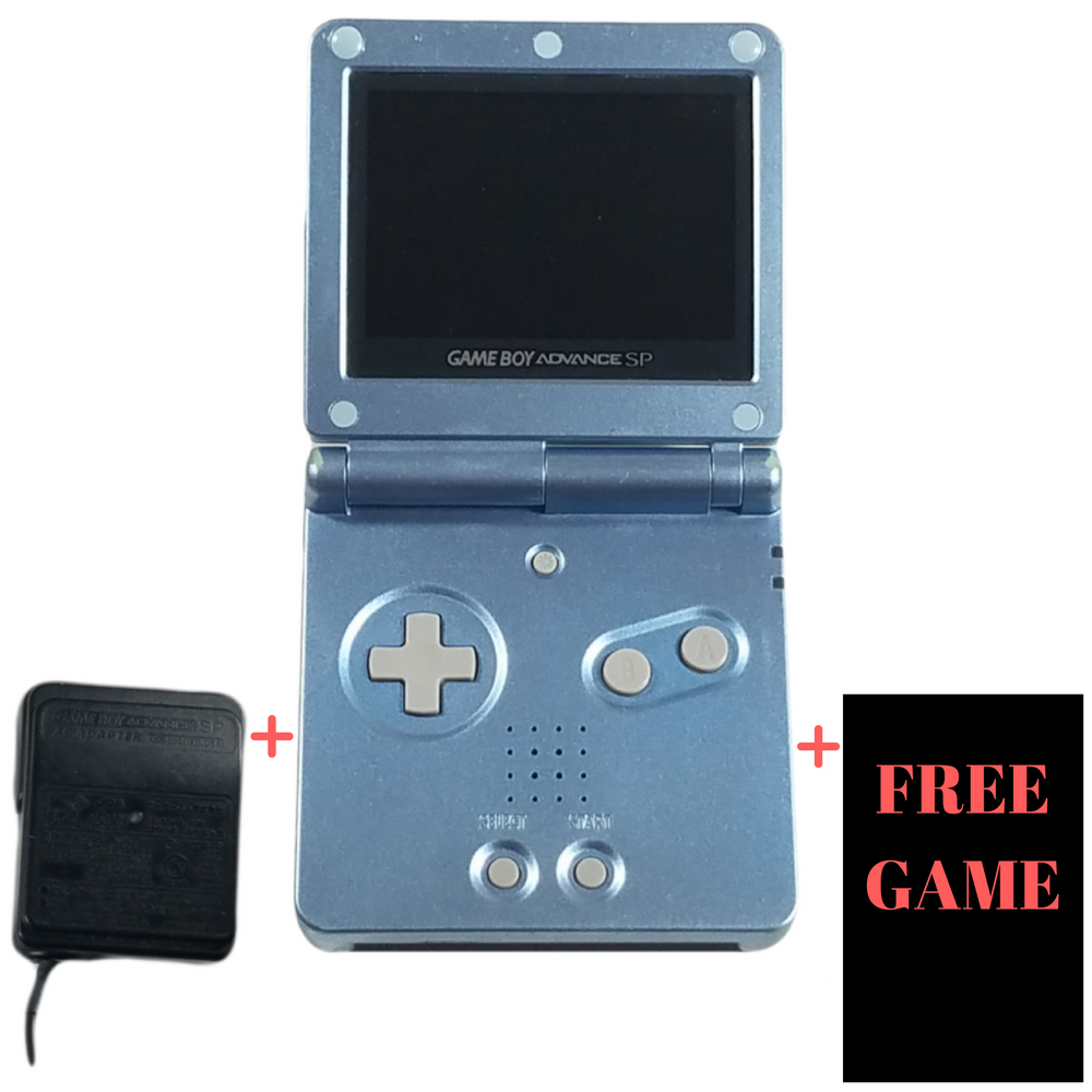 Nintendo Game Boy Advance SP Console System - Pearl Blue