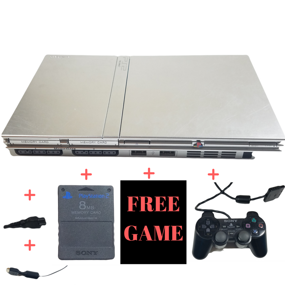 Sony PlayStation 2 Slim Console System – PS2 – Satin Silver