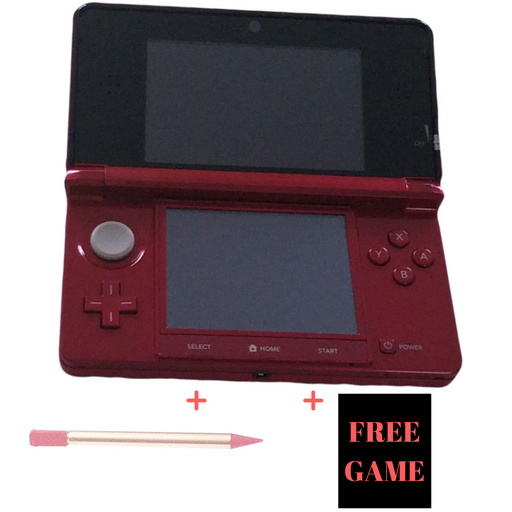 Nintendo 3DS Flame Red Hand Held Console System