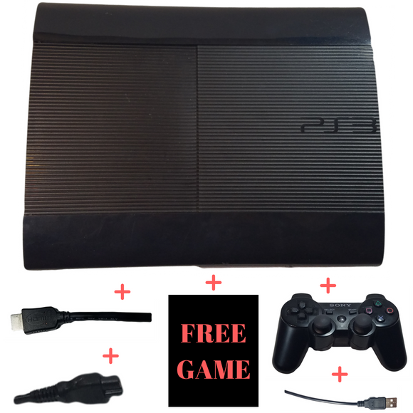 Sony PlayStation 3 Super Slim Console – PS3 – Black – 500GB