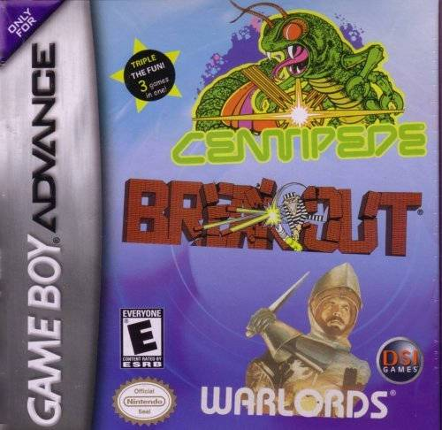 Centipede  Breakout  Warlords - Game Boy Advance