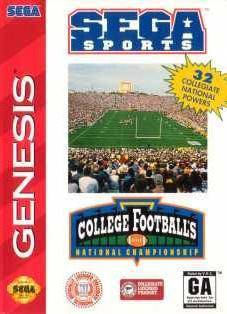 College Footballs National Championship - Sega Genesis